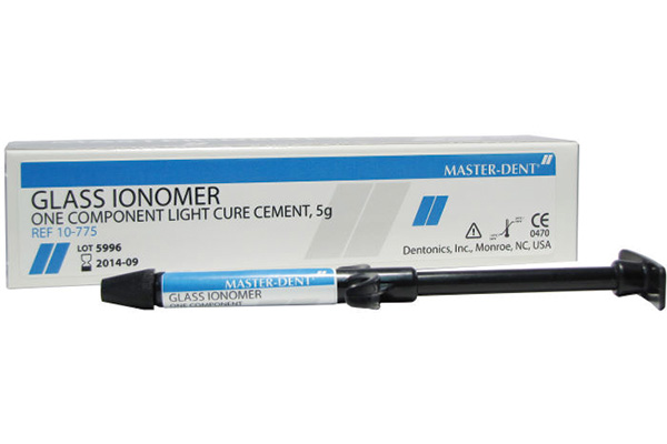 گلاس آینومر،لایت کیور،مستردنت،masterdent,GlassIonomer light cure